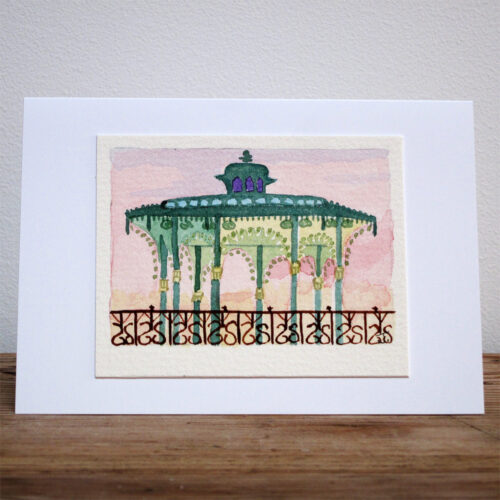 Brighton Bandstand - Original Watercolour Painting by Jessica Coote