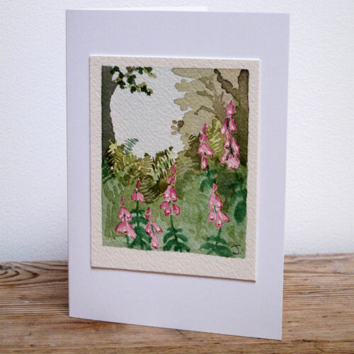 Foxgloves - Original Watercolour Painting by Jessica Coote