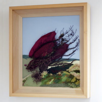 Hawthorn Bush Creative Hand Embroidery by Jessica Coote