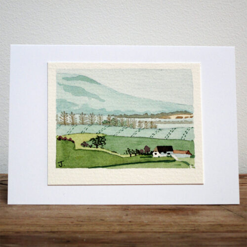 Little Sussex Village - Original Watercolour Painting by Jessica Coote