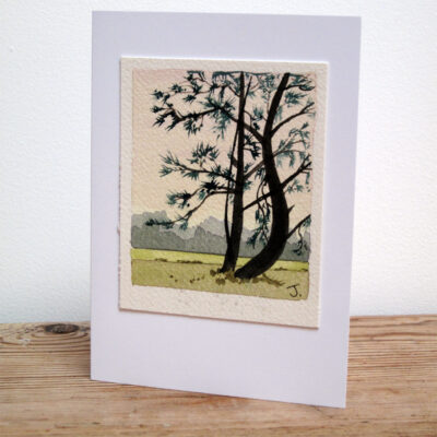 Sussex Trees - Original Watercolour Painting by Jessica Coote