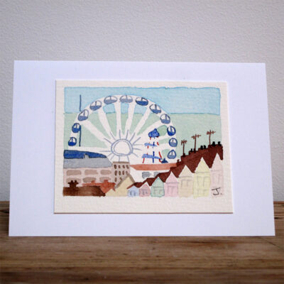 The Brighton Wheel - Original Watercolour Painting by Jessica Coote
