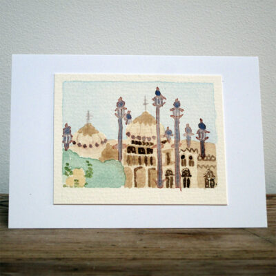 The Royal Pavilion Brighton - Original Watercolour Painting by Jessica Coote