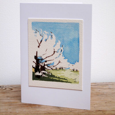 The South Downs Way - Original Watercolour Painting by Jessica Coote