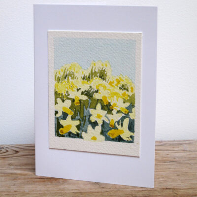 Yellow Sussex Daffodils - Original Watercolour Painting by Jessica Coote