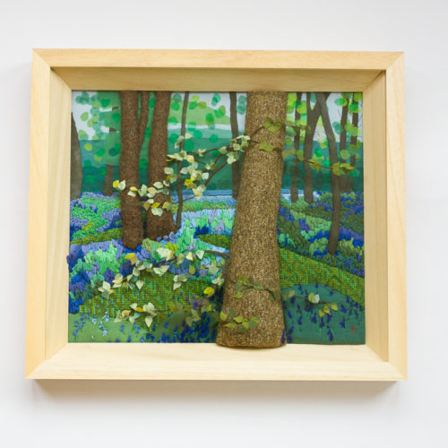 Blue Bells – Hand Embroidered Landscape by Jessica Coote