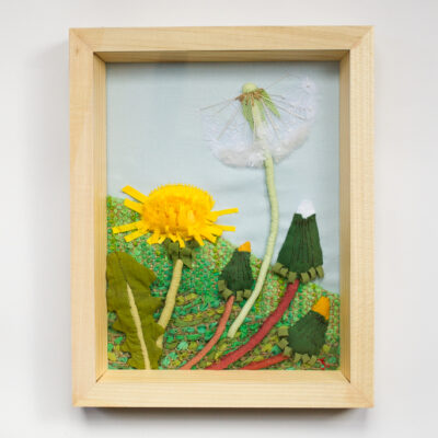 Dandelion– Hand Embroidered Landscape by Jessica Coote