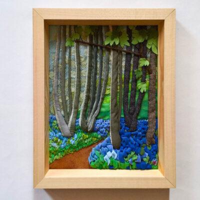 bluebelles-in-hazel-trees-Jessica-Coote-textile-landscape