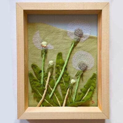 dandelion clocks Jessica Coote textile landscape
